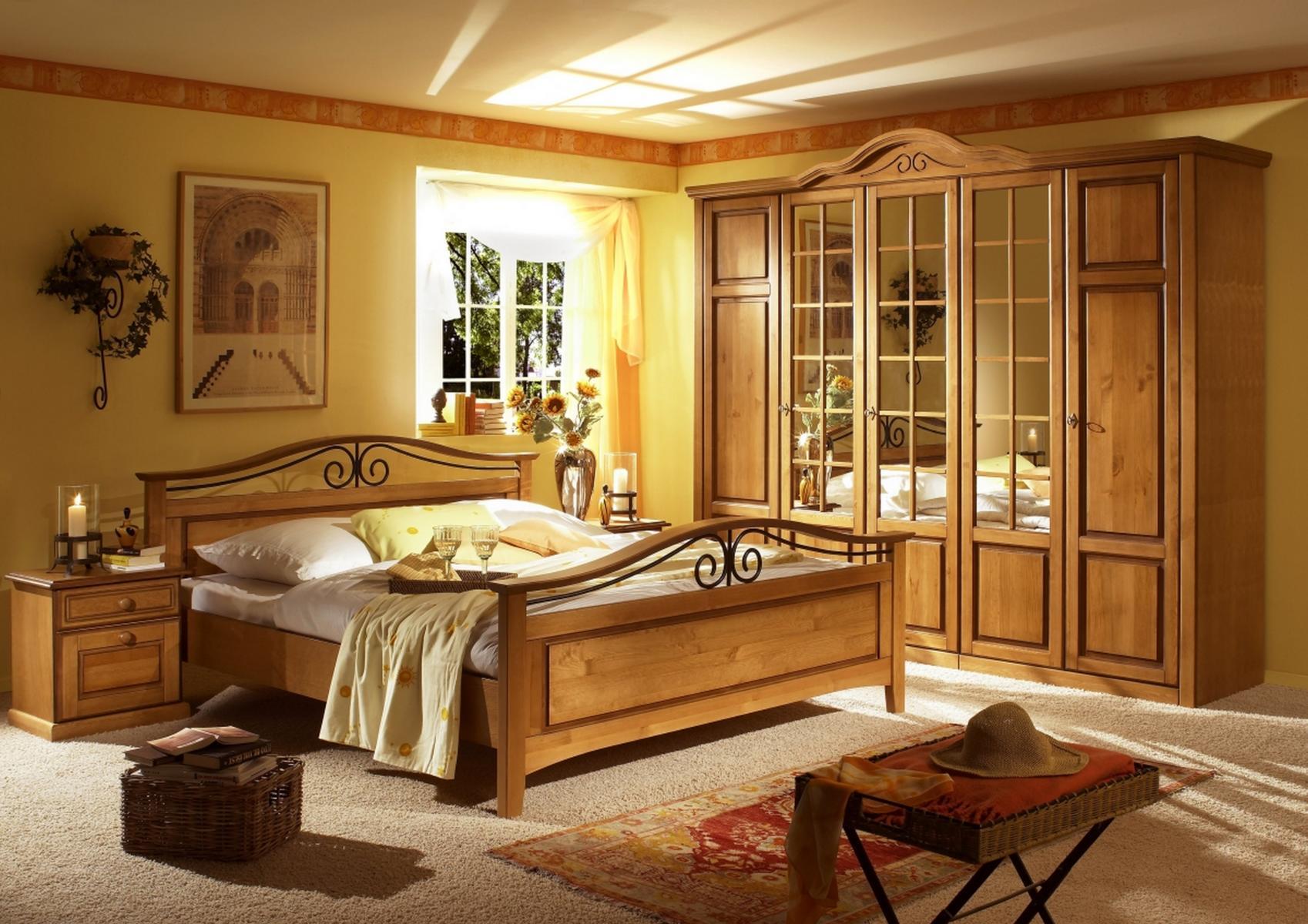 Schon Bett 180x200cm Sandra Im Landhausstil In Old Style Honig ...