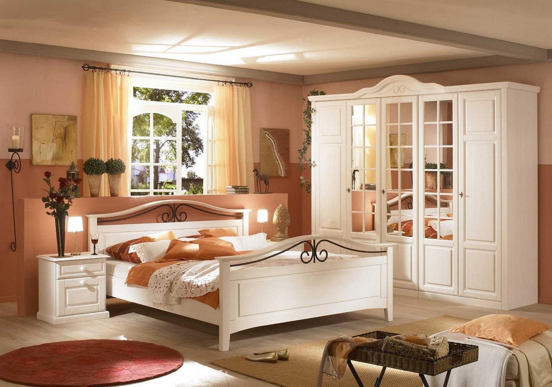AuBergewohnlich ... Bett 180x200cm Sandra Im Landhausstil In Old Style Honig