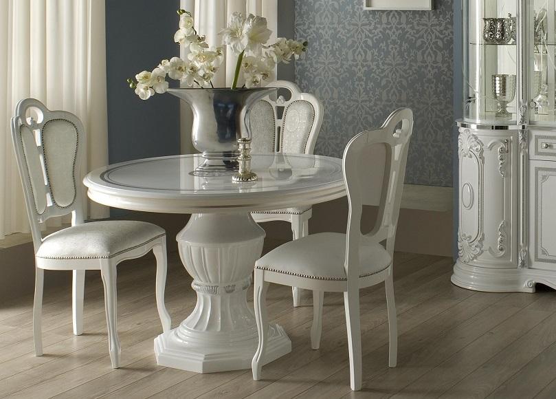 Wohnzimmertisch Tisch Rund Great Weiss Silber Italienische Mobel