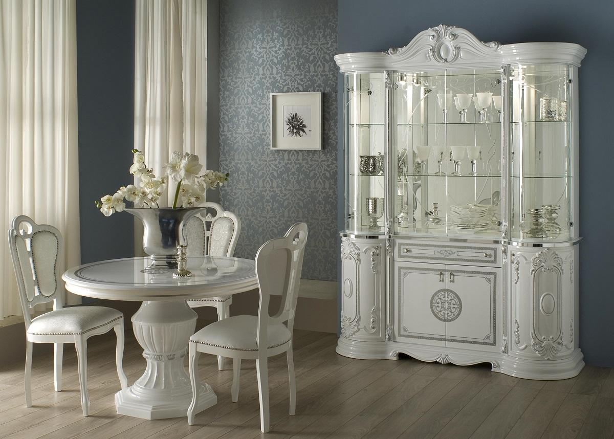 wohnzimmertisch tisch rund great weiss silber italienische. Black Bedroom Furniture Sets. Home Design Ideas