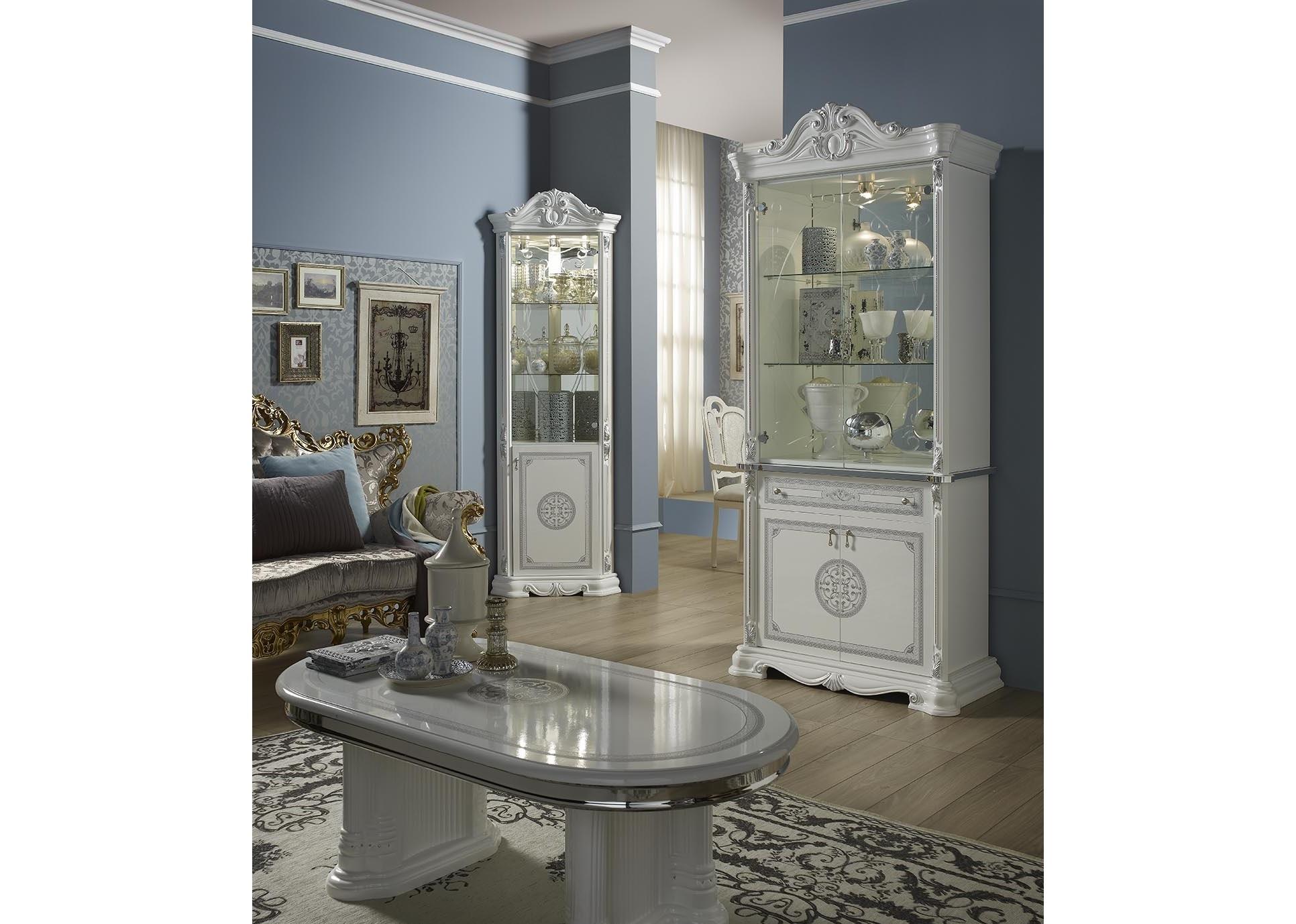 vitrine 2 trg great weiss silber italienisch klassik. Black Bedroom Furniture Sets. Home Design Ideas