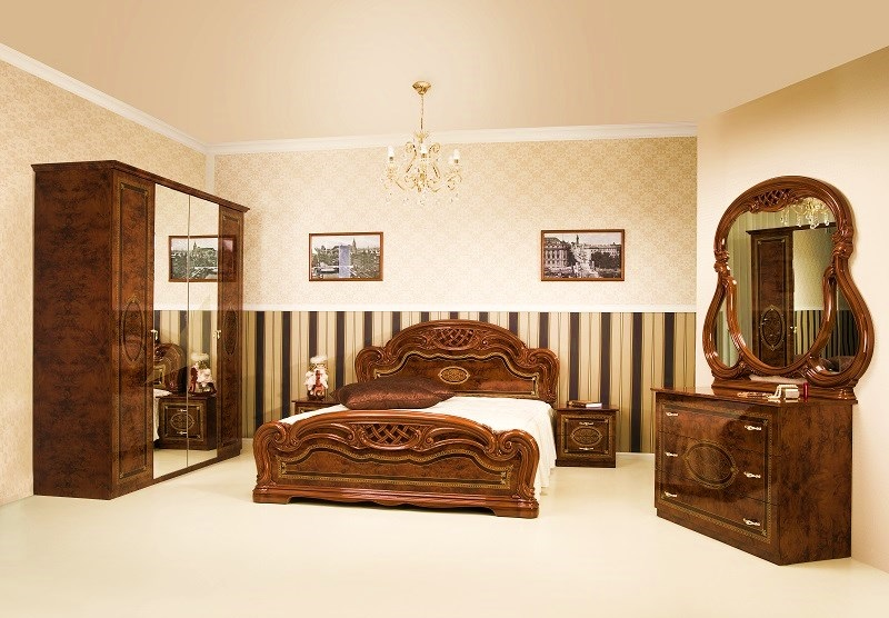 Schlafzimmer LANA walnuss klassisch Barock Stilmöbel Classico-SZ-LA ...