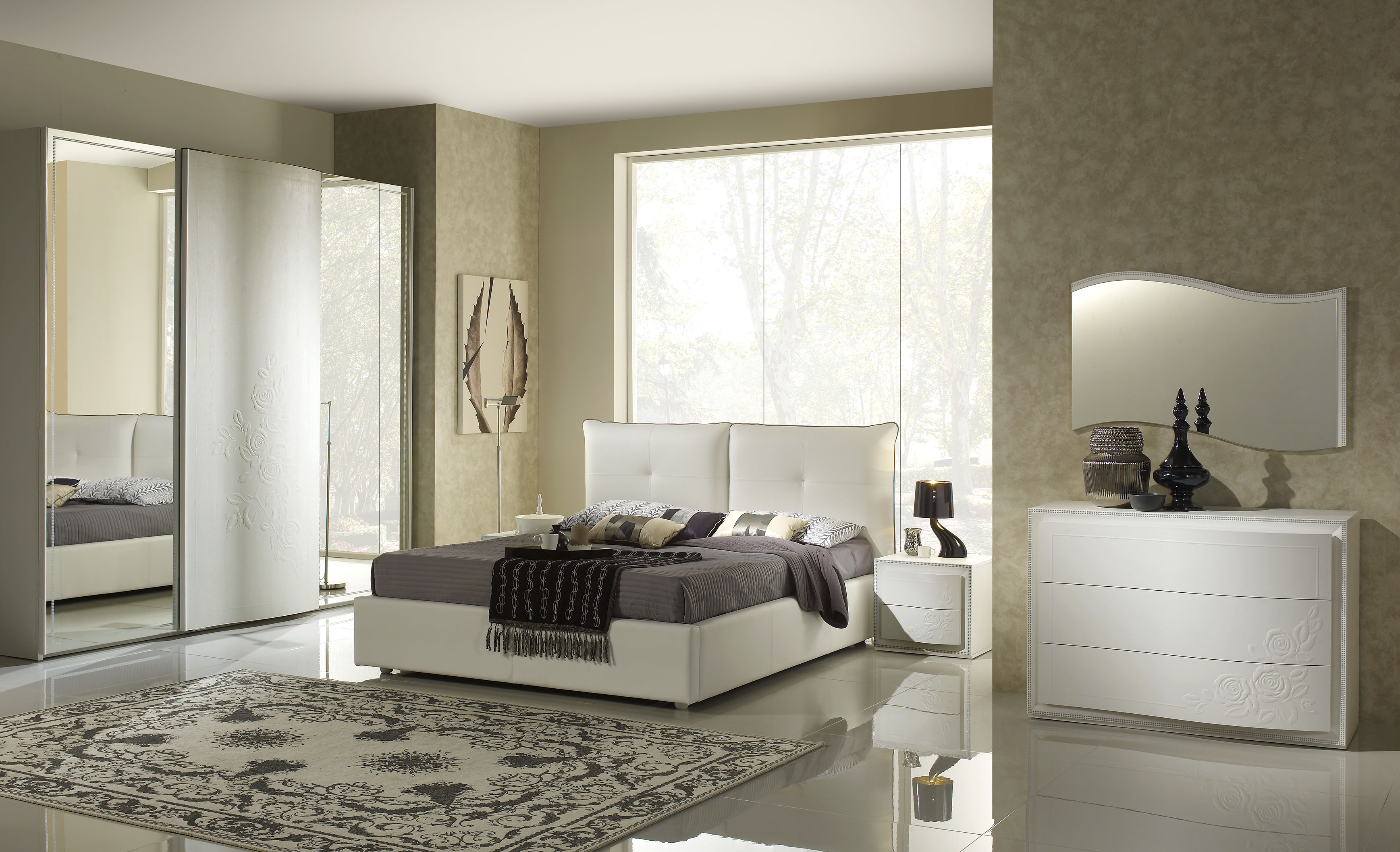 stauraumbett harmony bett 160x200 in weiss creme. Black Bedroom Furniture Sets. Home Design Ideas