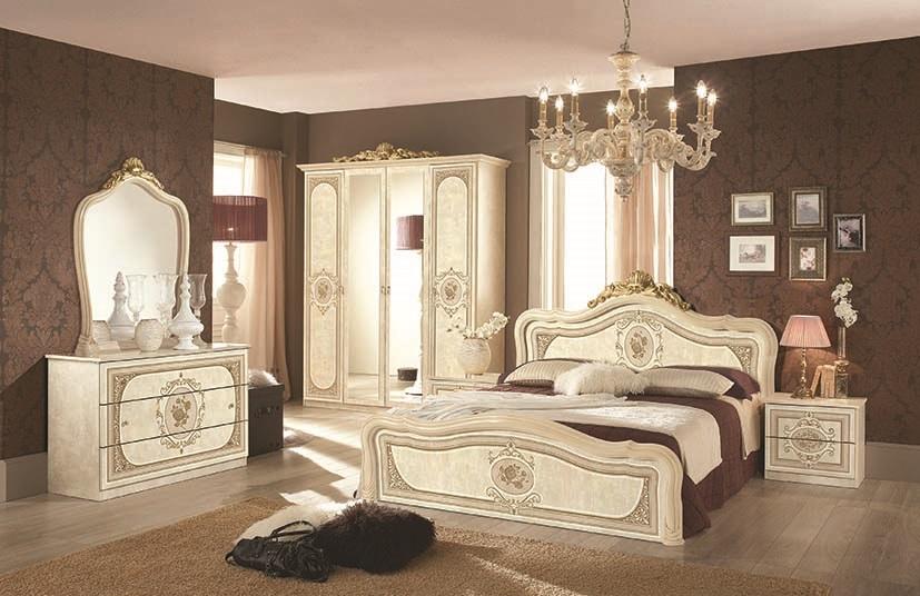 kommode mit spiegel alice in beige creme schlafzimmer - Schlafzimmer Creme Beige