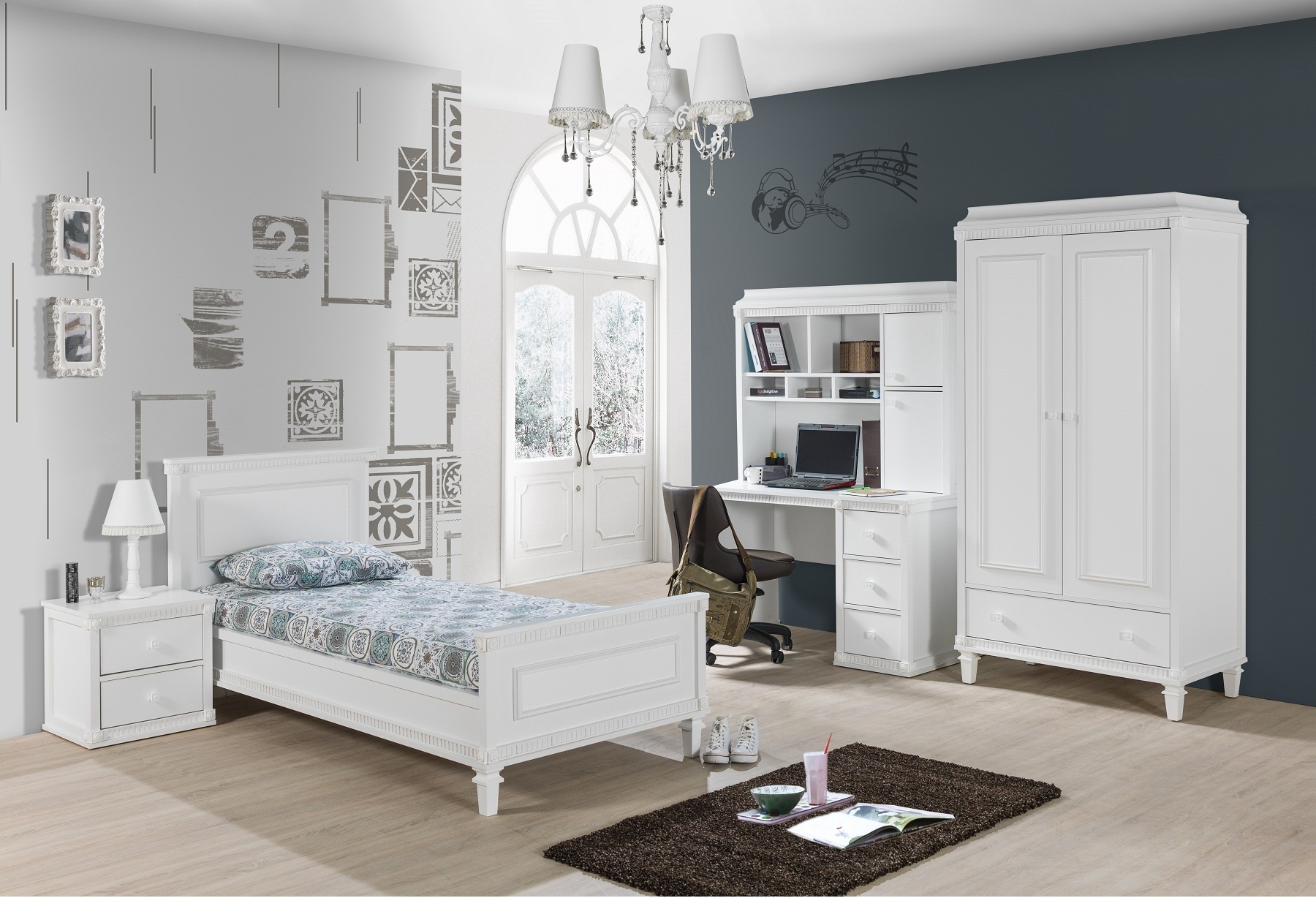 kinderzimmer hazeran weiss landhausstil 780 2468. Black Bedroom Furniture Sets. Home Design Ideas