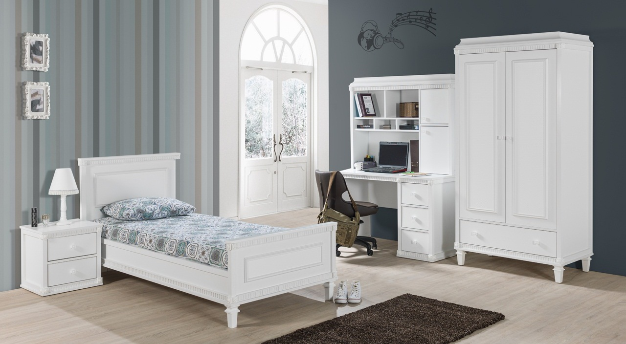 schreibtisch hazeran mit aufsatz landhausstil weiss kinder 78408. Black Bedroom Furniture Sets. Home Design Ideas