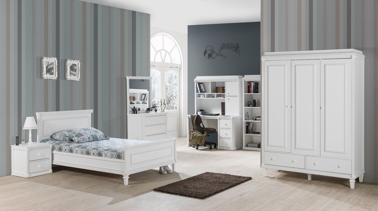 b cherregal hazeran landhausstil weiss 78401. Black Bedroom Furniture Sets. Home Design Ideas
