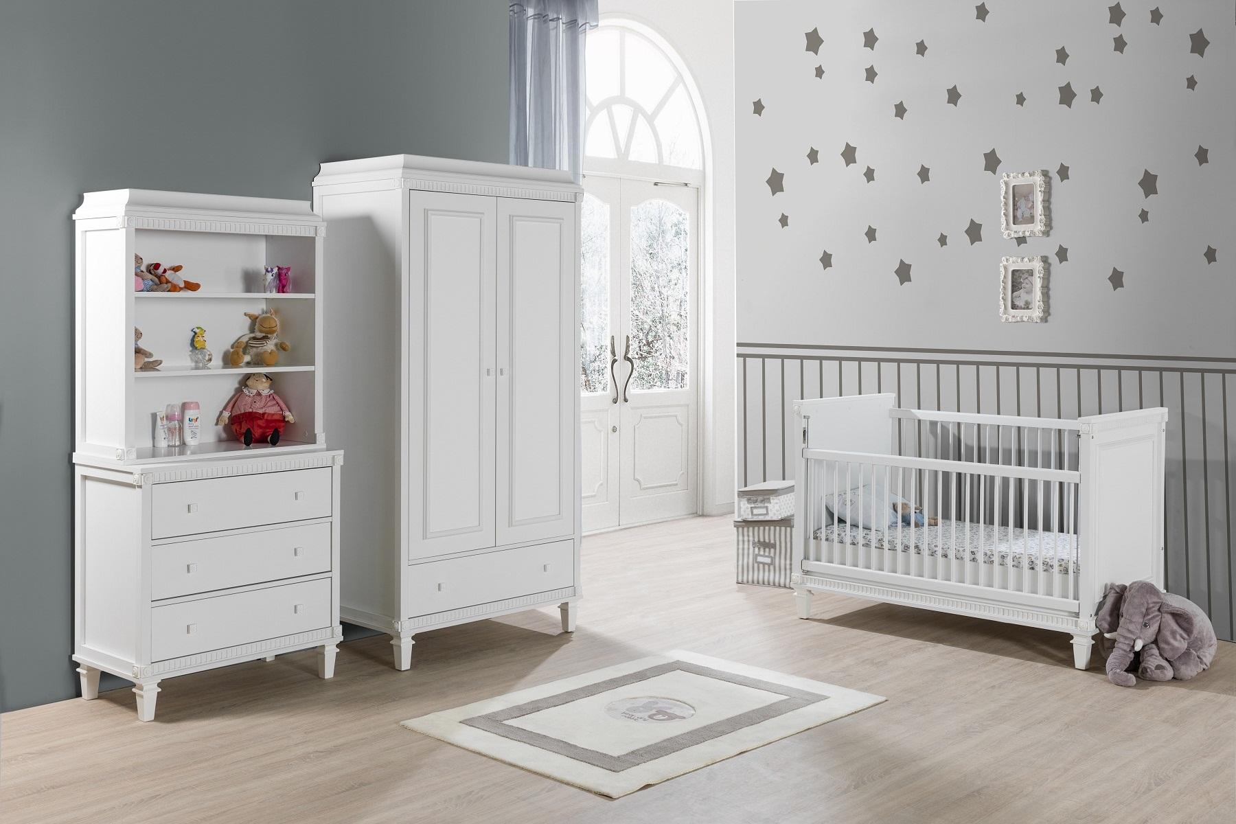Babyzimmer Hazeran 70x130 cm weiss Landhausstil Traum-740/2/7/11