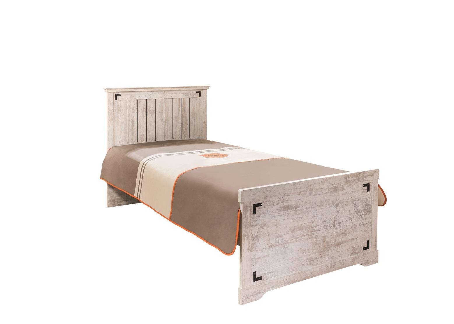 bett 90x200 cm woodlife in weiss im landhausstil 31304. Black Bedroom Furniture Sets. Home Design Ideas