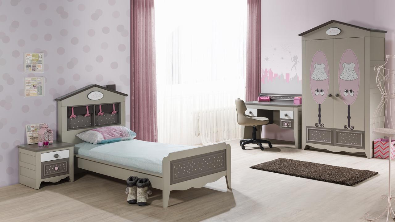 Kinderzimmer houses 5 tlg braun weiss boutique schrank 3 for Kinderzimmer braun