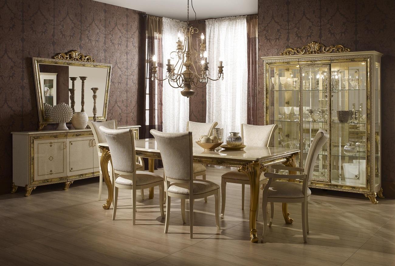 vitrine 3trg karla beige gold italien luxus für wohnzimmer-sa-kat ... - Wohnzimmer Beige Gold