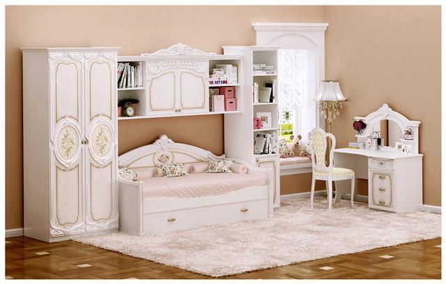 bett 90x190 cm rozza f r kinderzimmer beige hochglanz 45 900 03. Black Bedroom Furniture Sets. Home Design Ideas