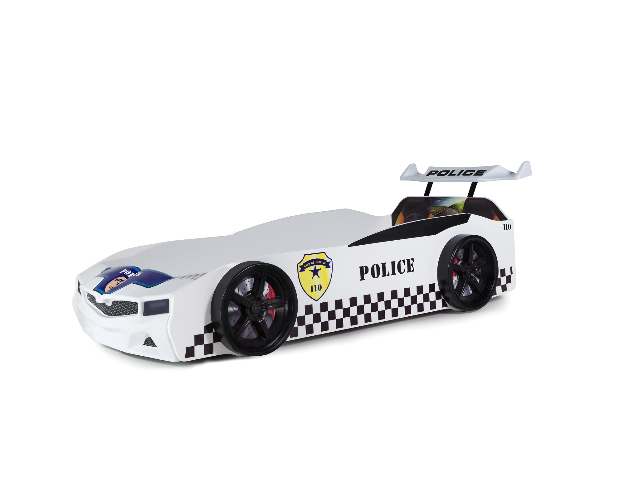 Kinder Autobett Bumer Spx Weiß Mit Led Scheinwerfer K Ak74977