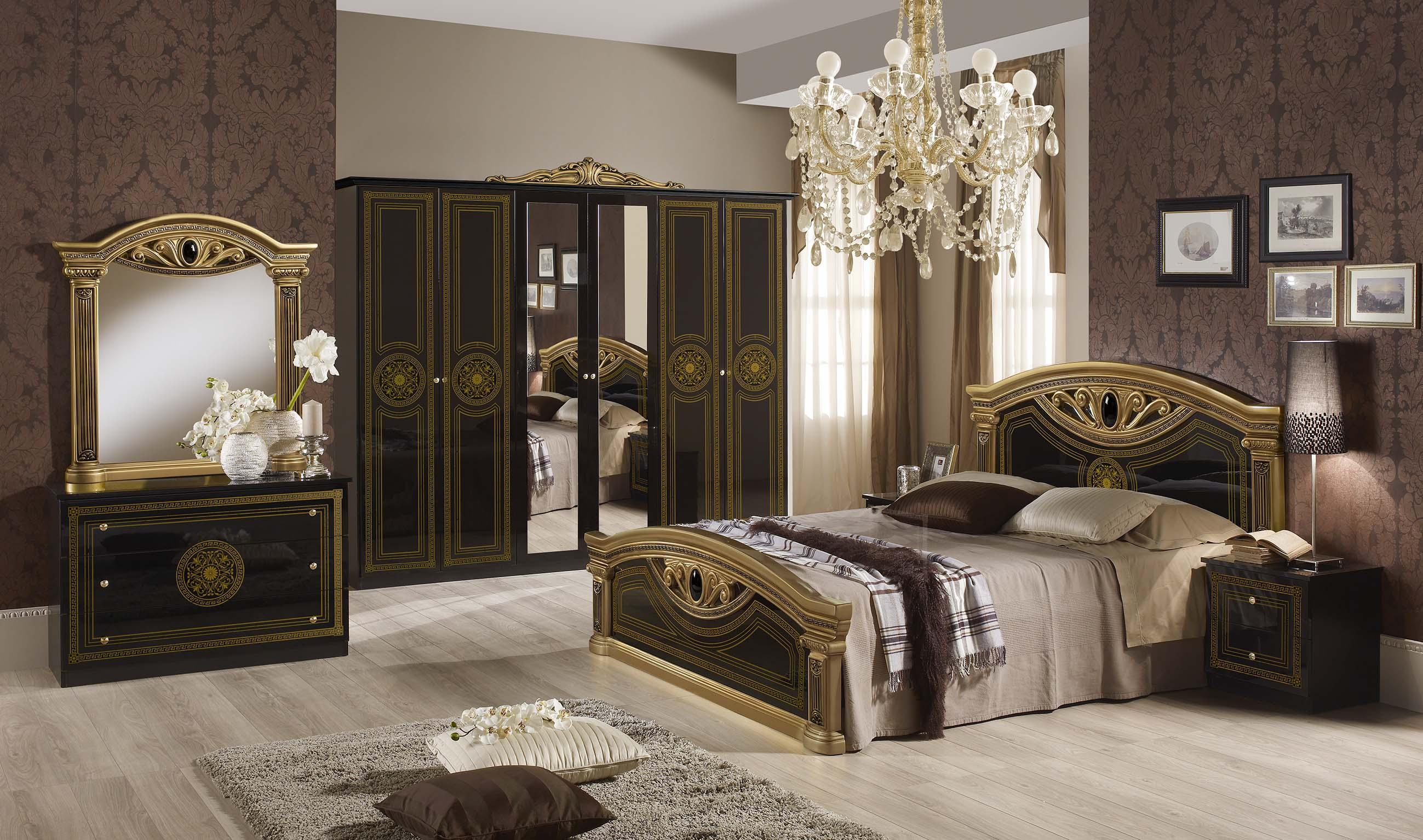 Schlafzimmer Giulia in schwarz silber Klassik Barock-XP_PFGLCCA4A