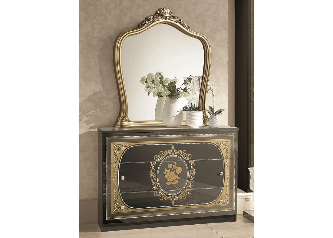Kommode mit Spiegel Alice in beige creme Schlafzimmer-XP_PKALCCOM1SpBG