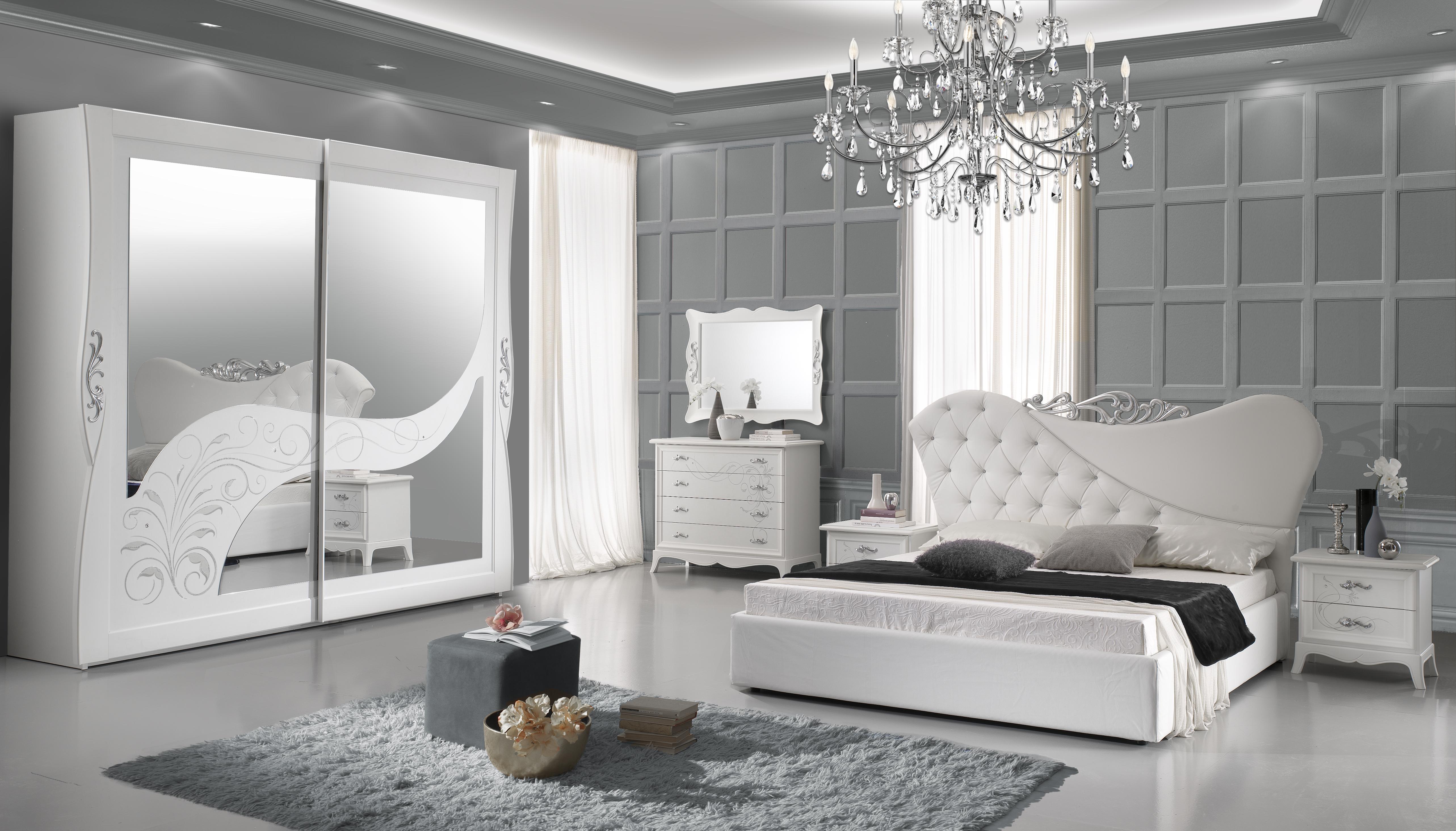Schlafzimmer Gisell In Weiss Edel Luxus Schlafzimmer Ebay