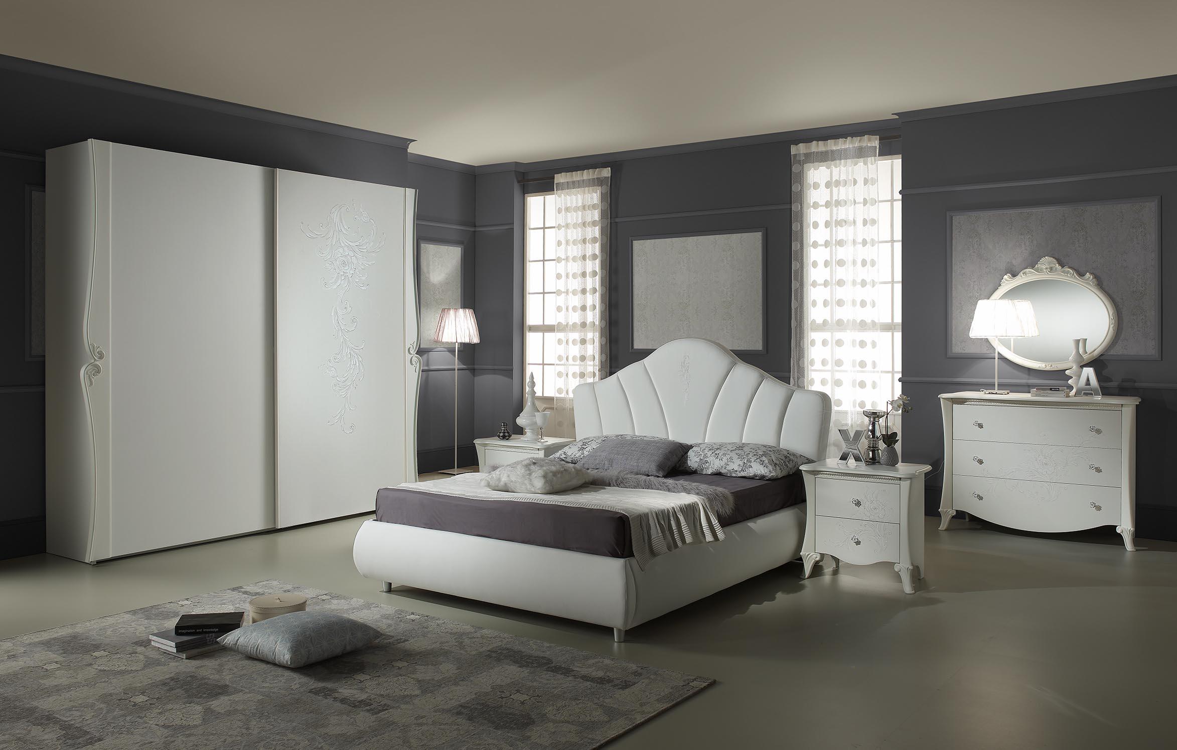 schlafzimmer doria in weiss elegant moderne m bel doris. Black Bedroom Furniture Sets. Home Design Ideas