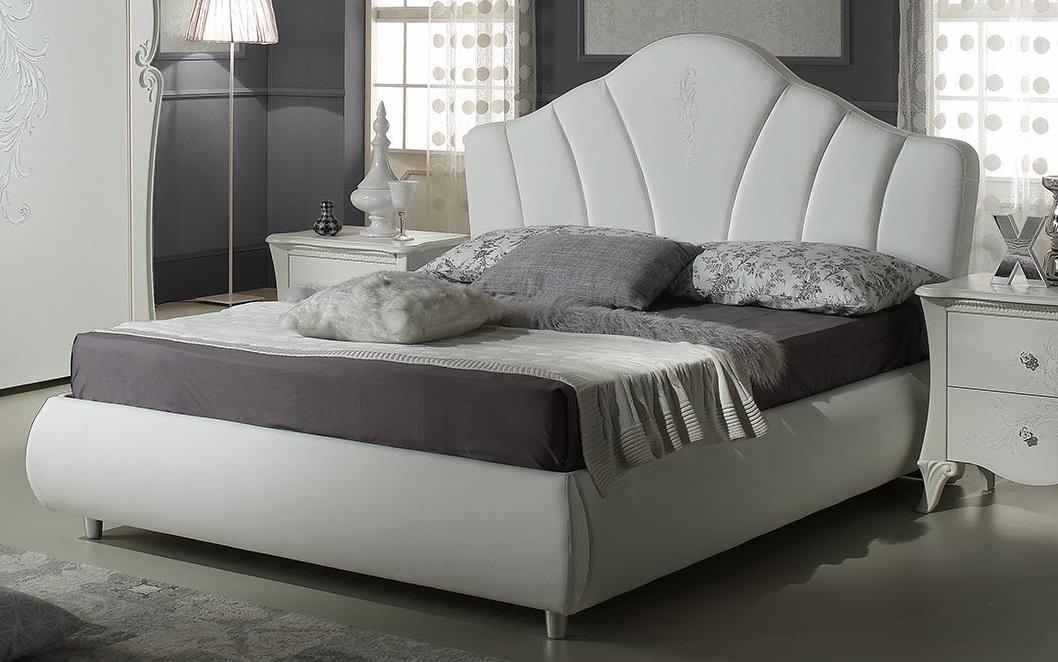 Bett 160x200 cm Doria in weiss elegant Moderne Möbel-XP_PFLMDL116