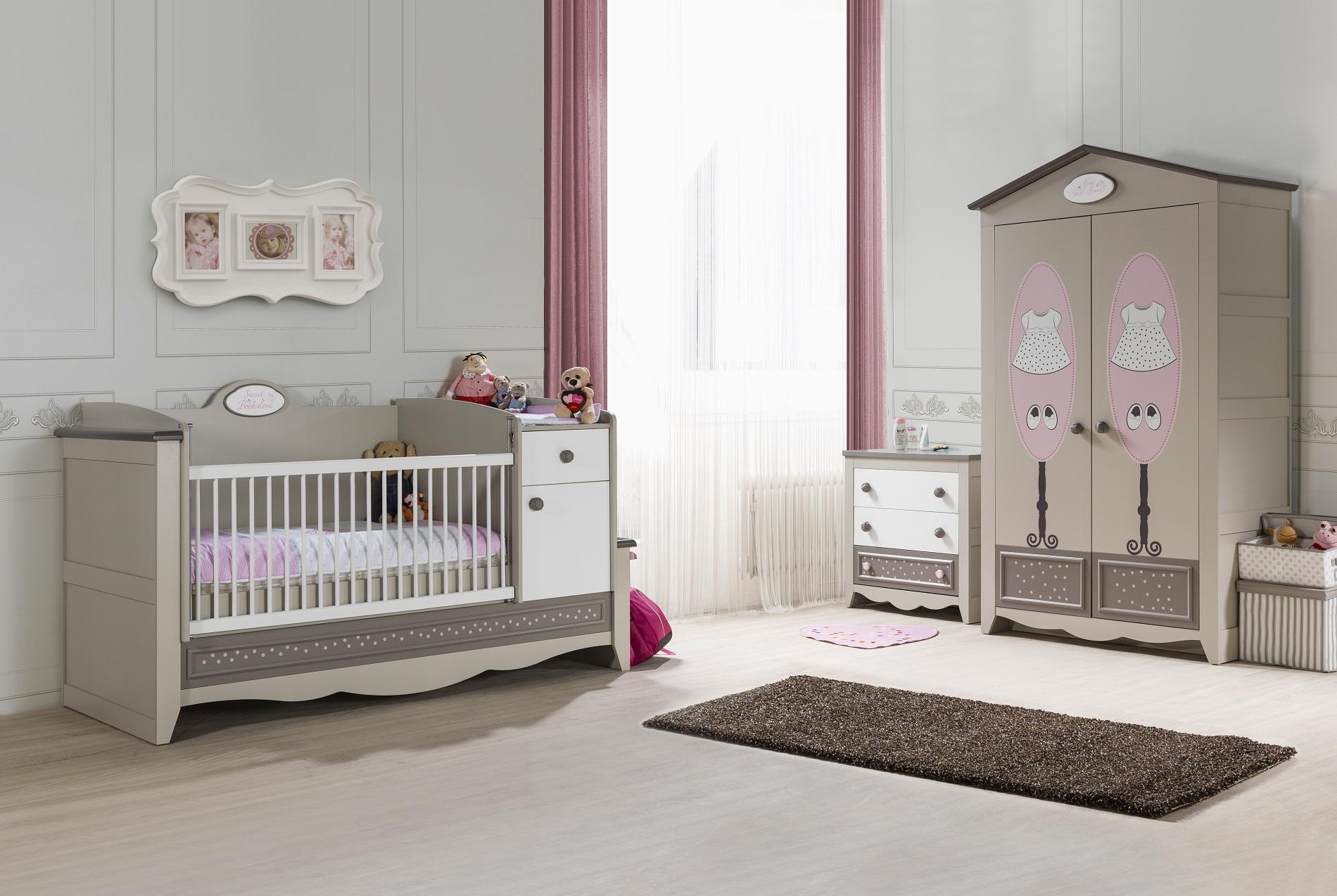 Entzuckend ... Babyzimmer Houses 3 Tlg Braun Beige Weiss Boutique Style