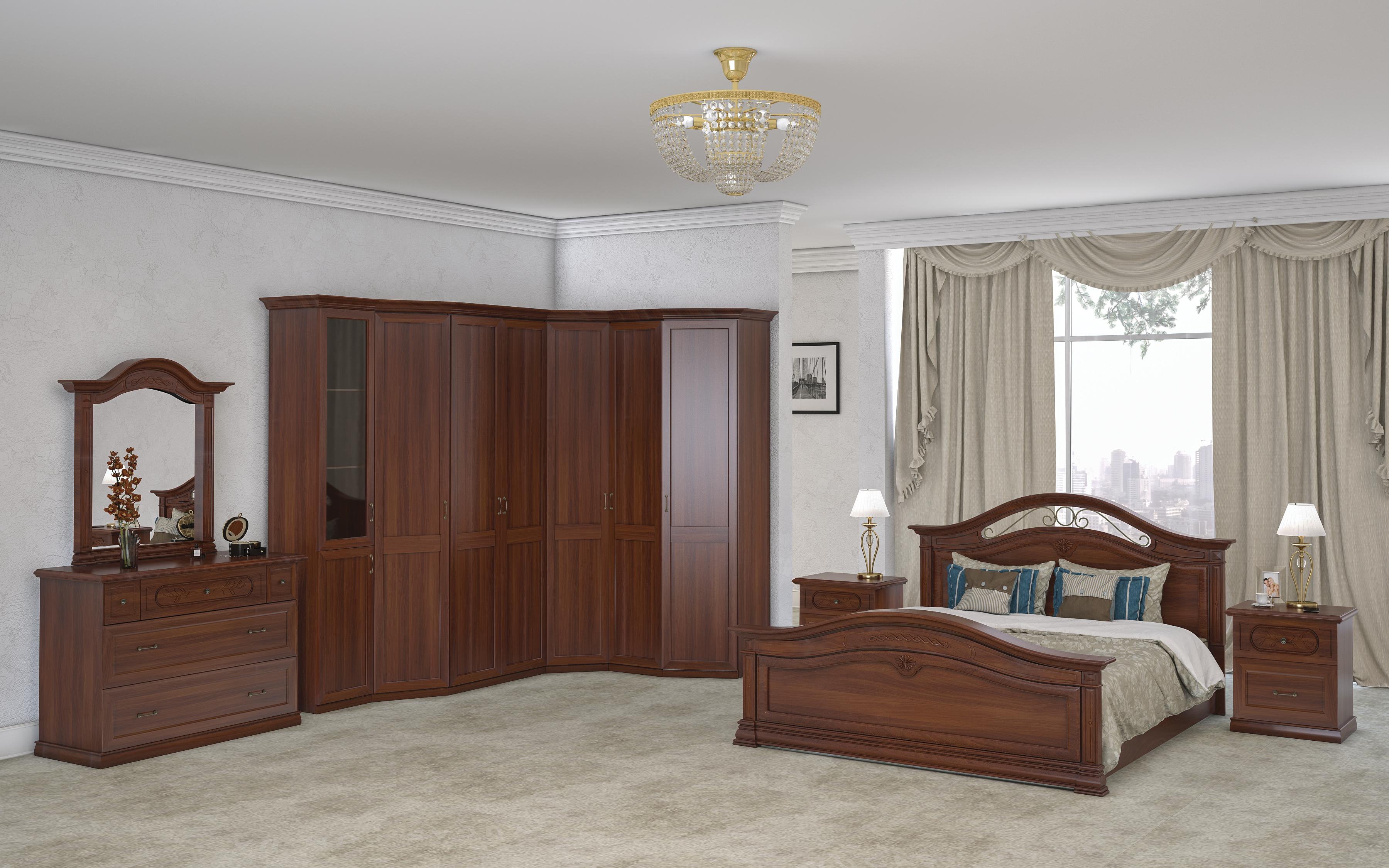 Schlafzimmer Palermo in Beige klassisch-ID-SET-PAL01