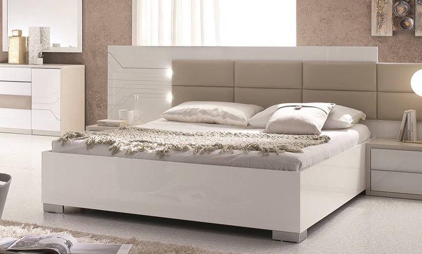 Schlafzimmer Tijana In Beige Weiss 6tlg