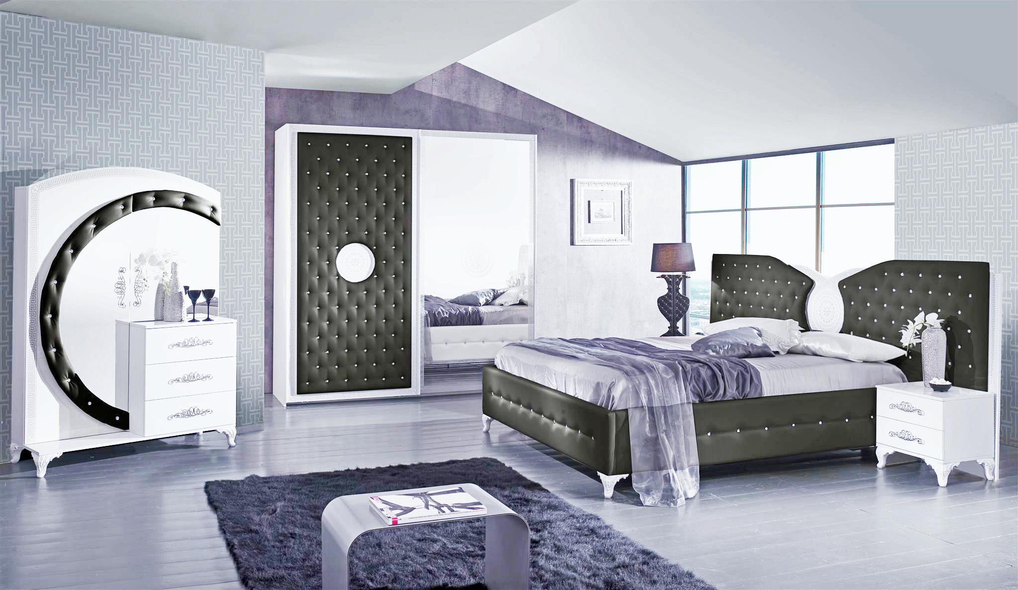 Fantastisch Das Bild Wird Geladen Schlafzimmer Anatalia In Schwarz Weiss Luxus Design