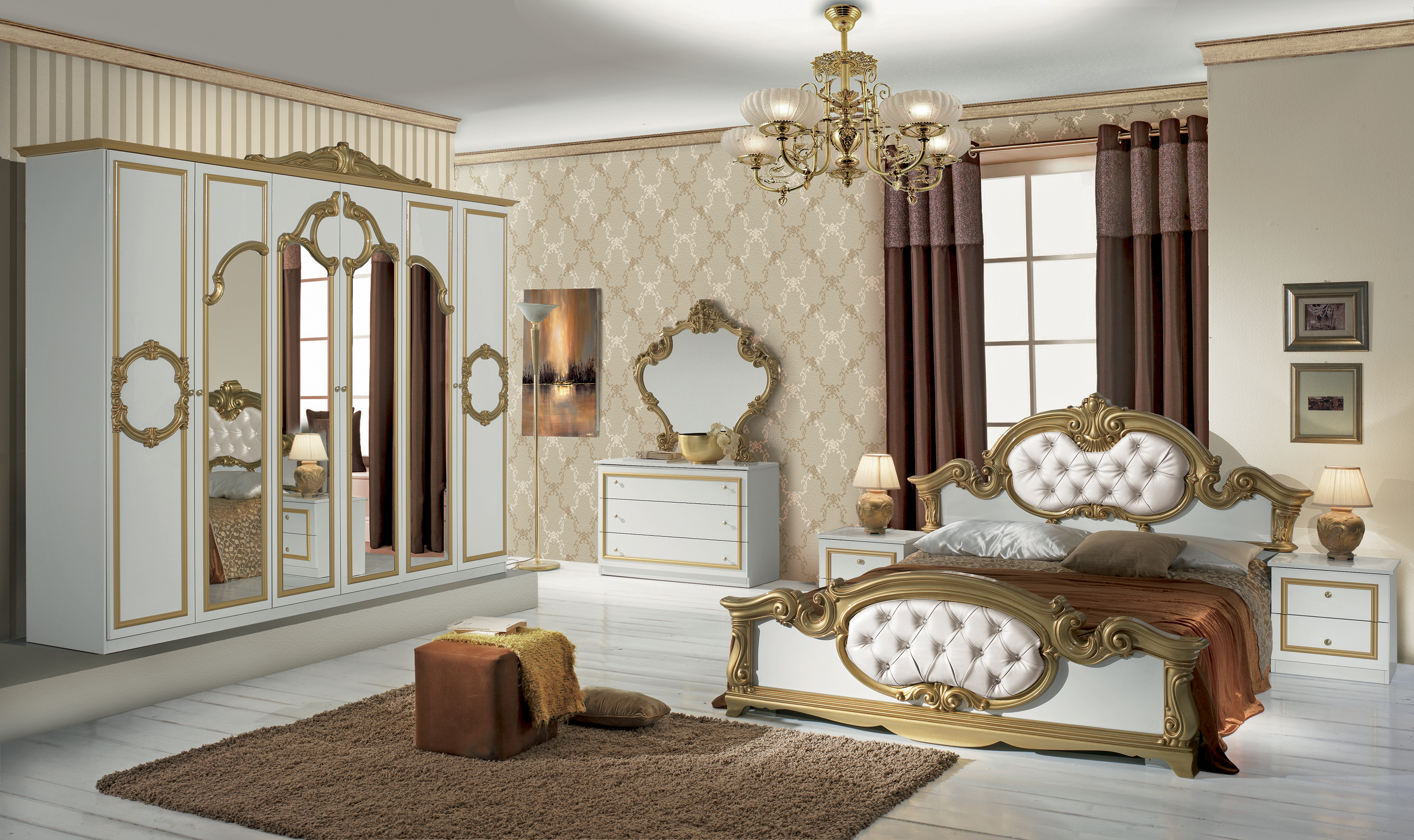 barock schlafzimmer elegantes schlafzimmer luxus. Black Bedroom Furniture Sets. Home Design Ideas