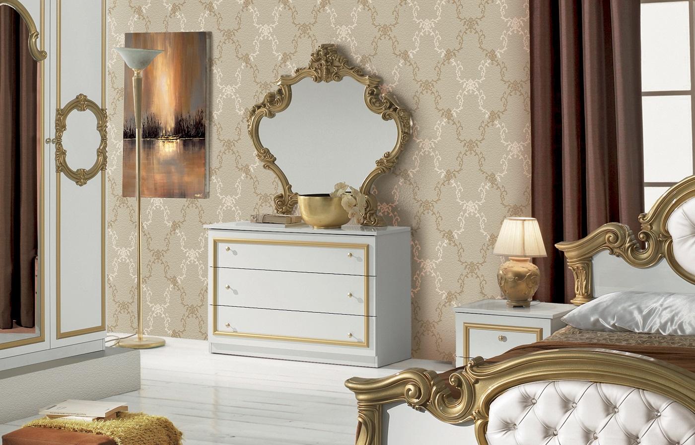 ... Schlafzimmer Barocco In Weiss Gold Barock Design