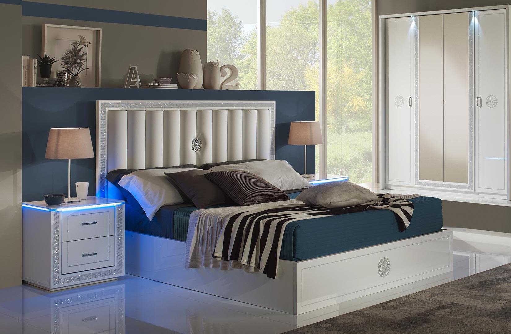 Schlafzimmer Set Cristal 180 X 200cm In Weiss Modern Design ...