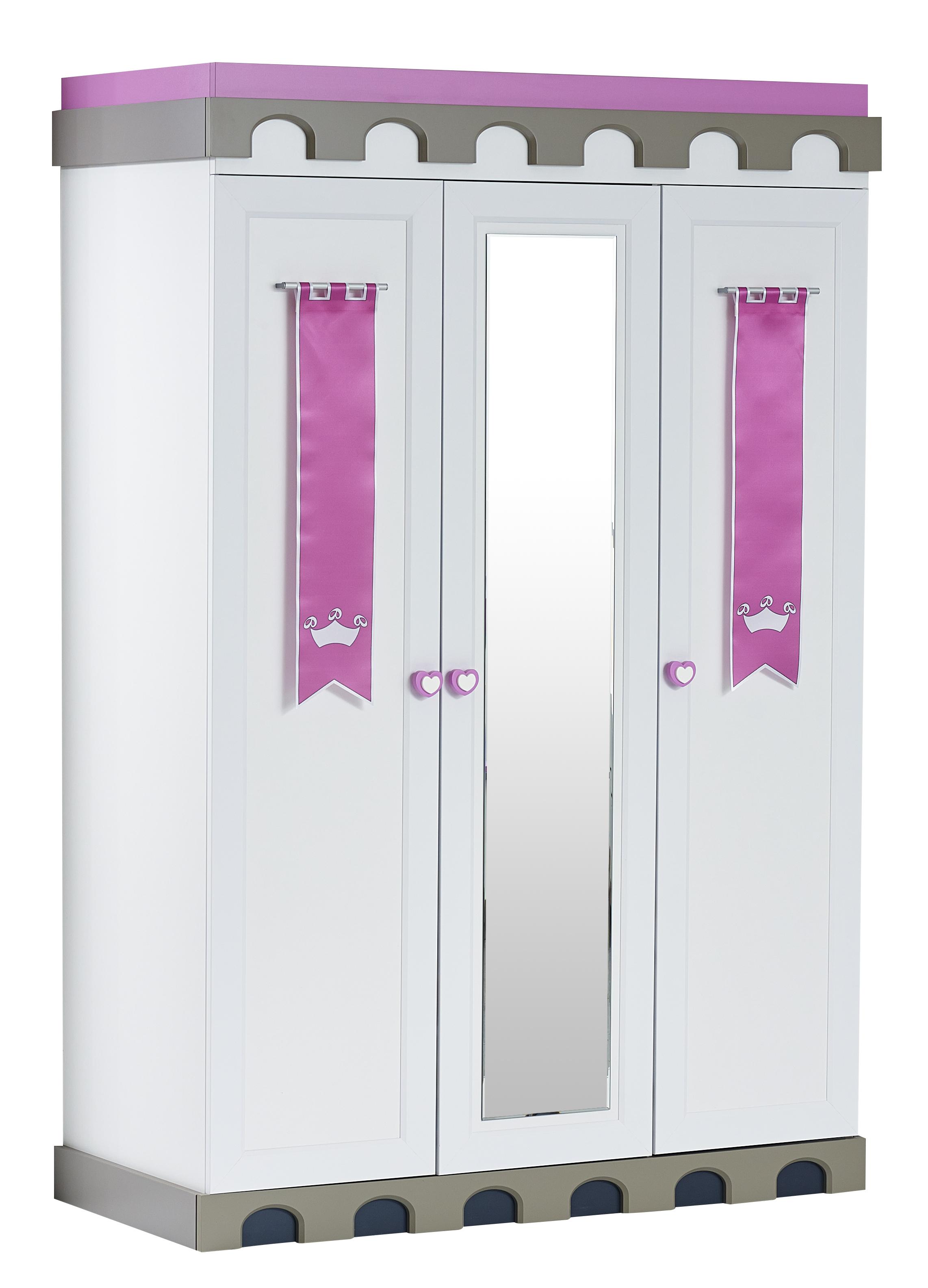 Kleiderschrank Castle Prinzessin Madchen Mit Spiegel Lila Pink
