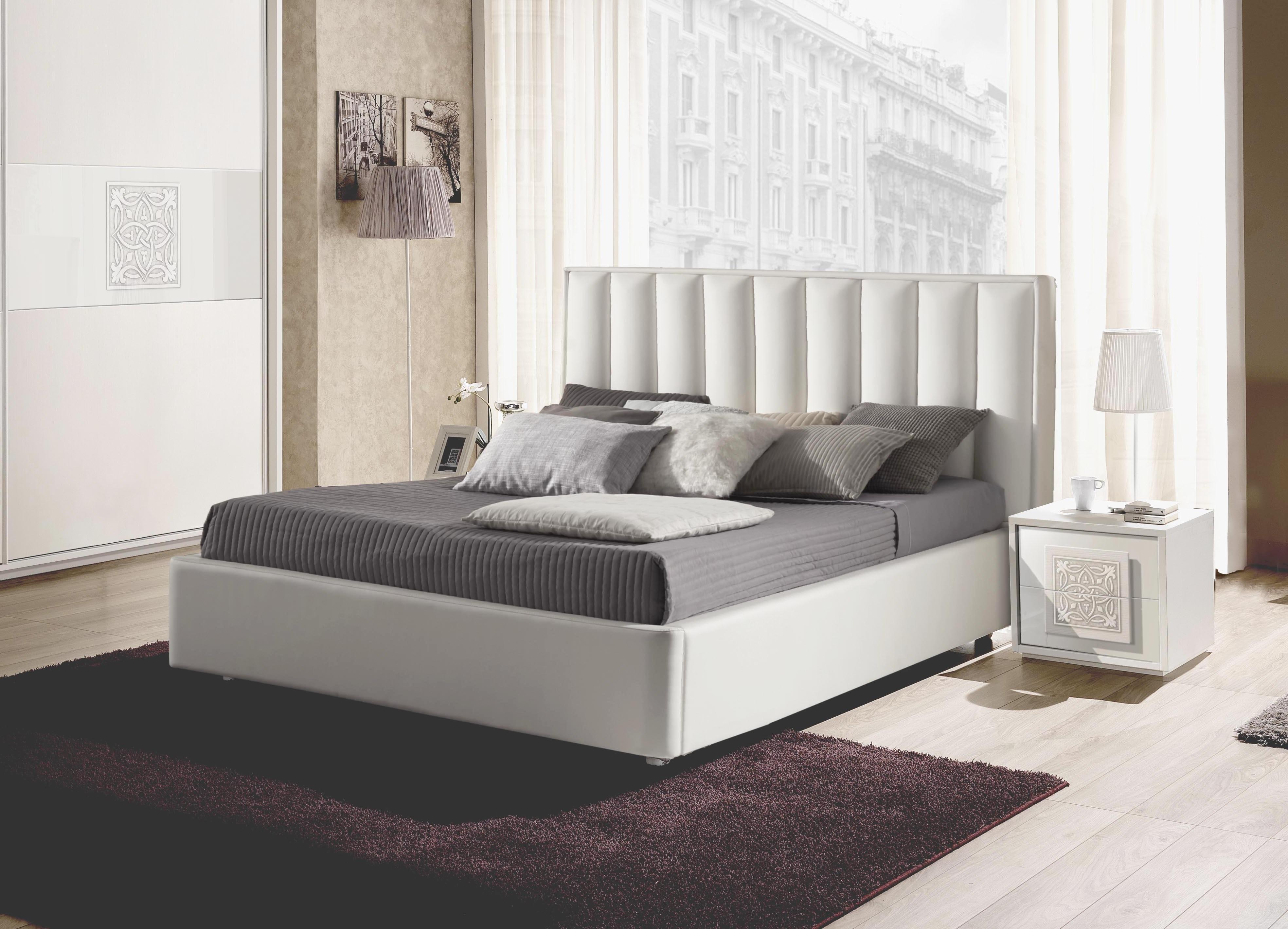 Bett Dama Mit Stauraum In Weiß Odern Design 160x200 Cm
