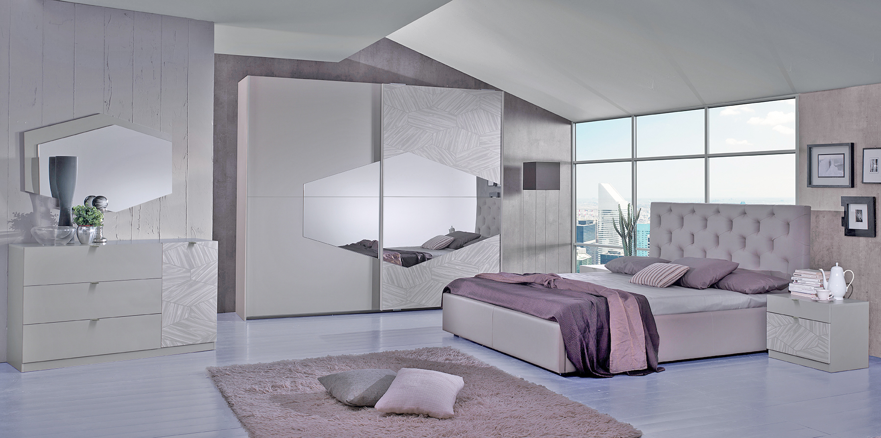 bett 180x200 cm firenze in grau modern fi b180. Black Bedroom Furniture Sets. Home Design Ideas