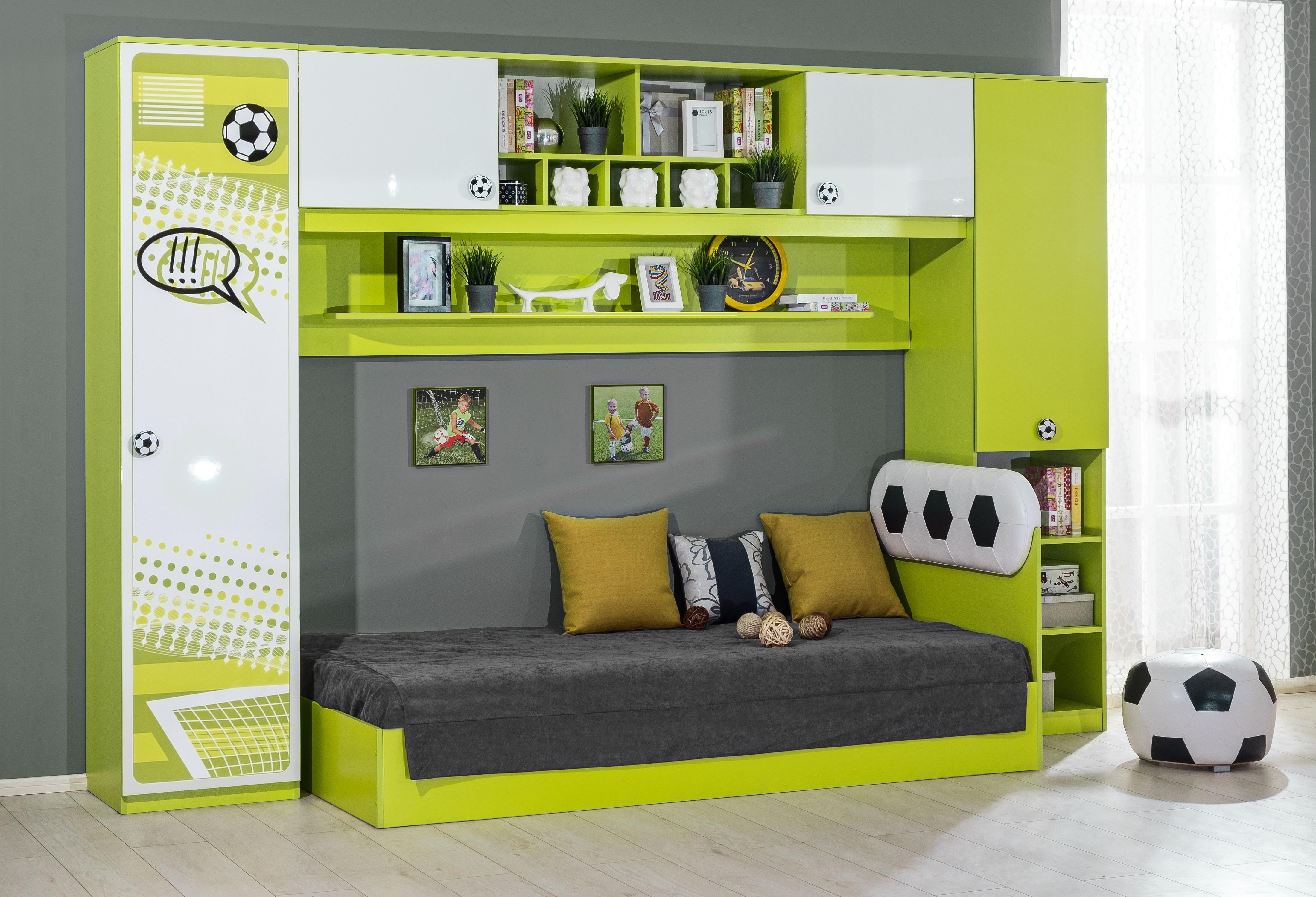 Kinderzimmer Fussball 4 Teilig In Grun Weiss
