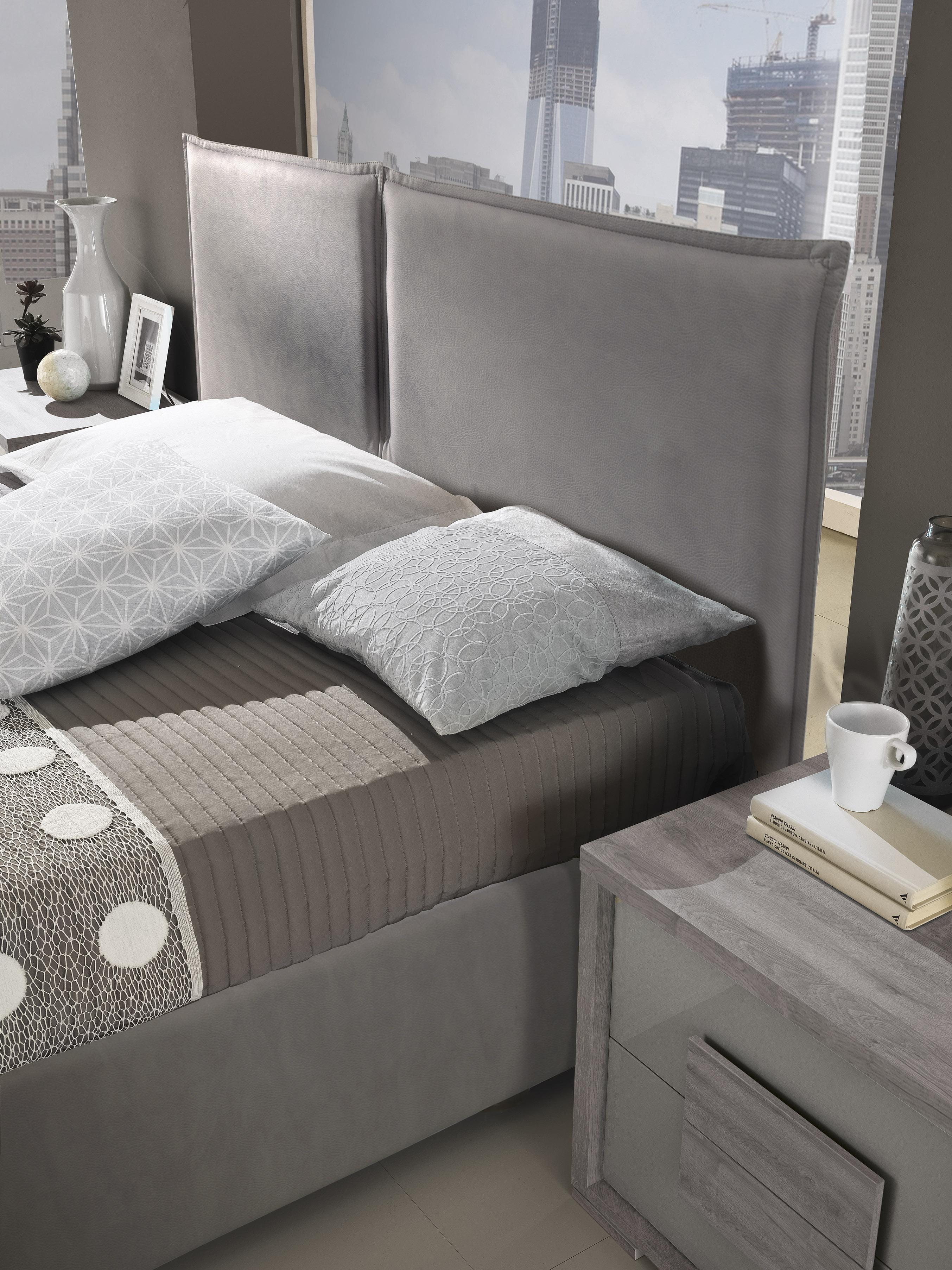 Schlafzimmer Set Lia modern 180x200 cm mit Schrank 4 türig ohne Kommode und Spiegel