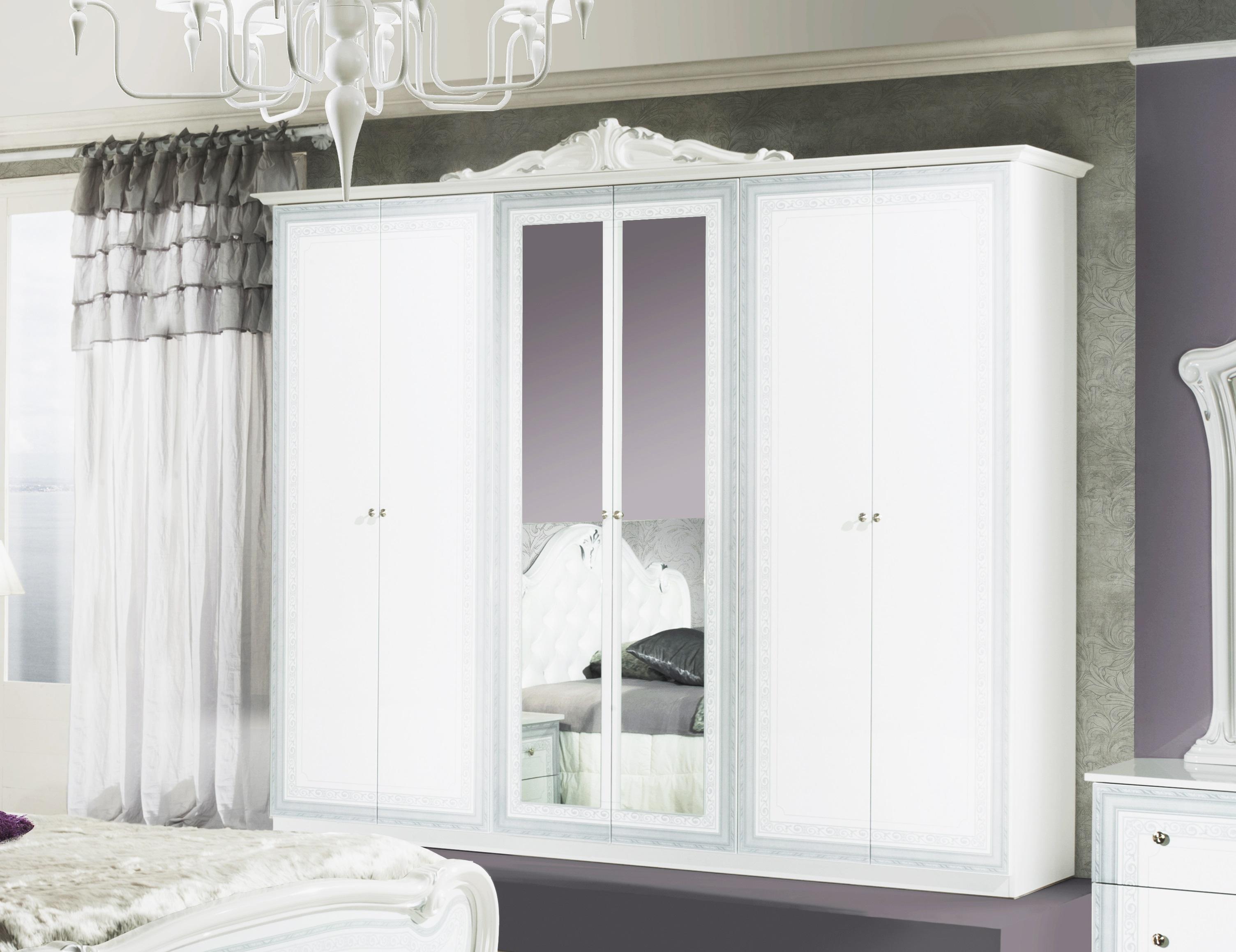 Elegantes Kleiderschrank In Weiss Gunstig Kaufen