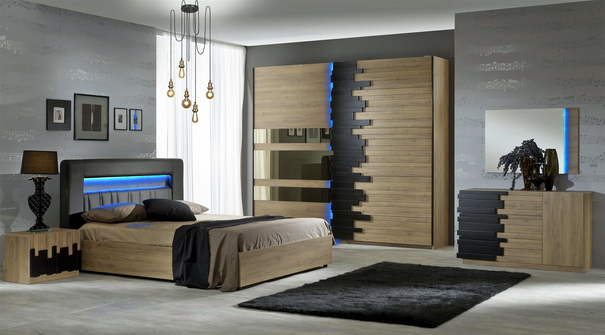 Schlafzimmer Set Mozart in Buche Optik 14x14 cm / mit Kommode ...