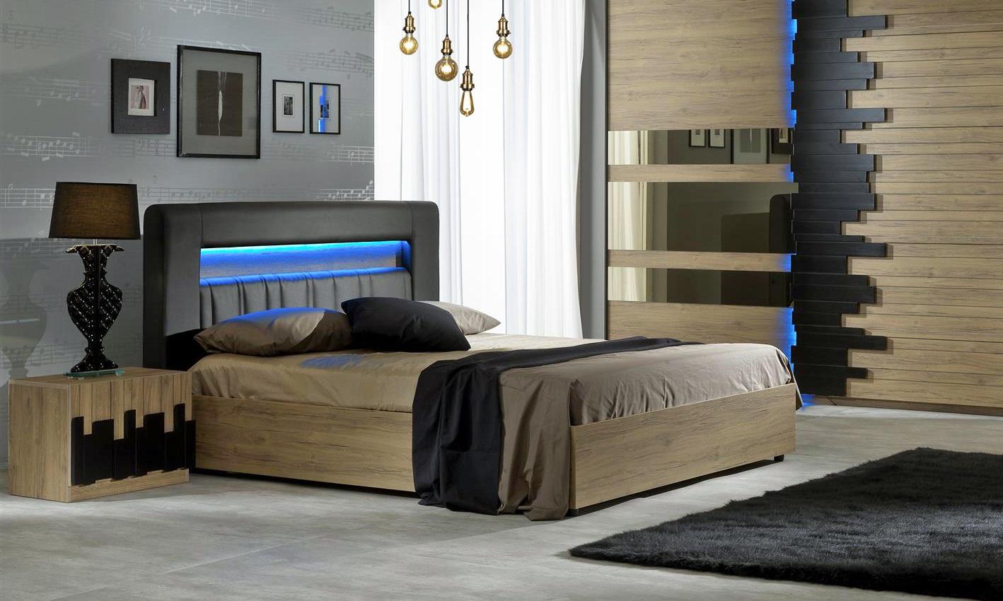Schlafzimmer Set Mozart in Buche Optik 160x200 cm / mit ...