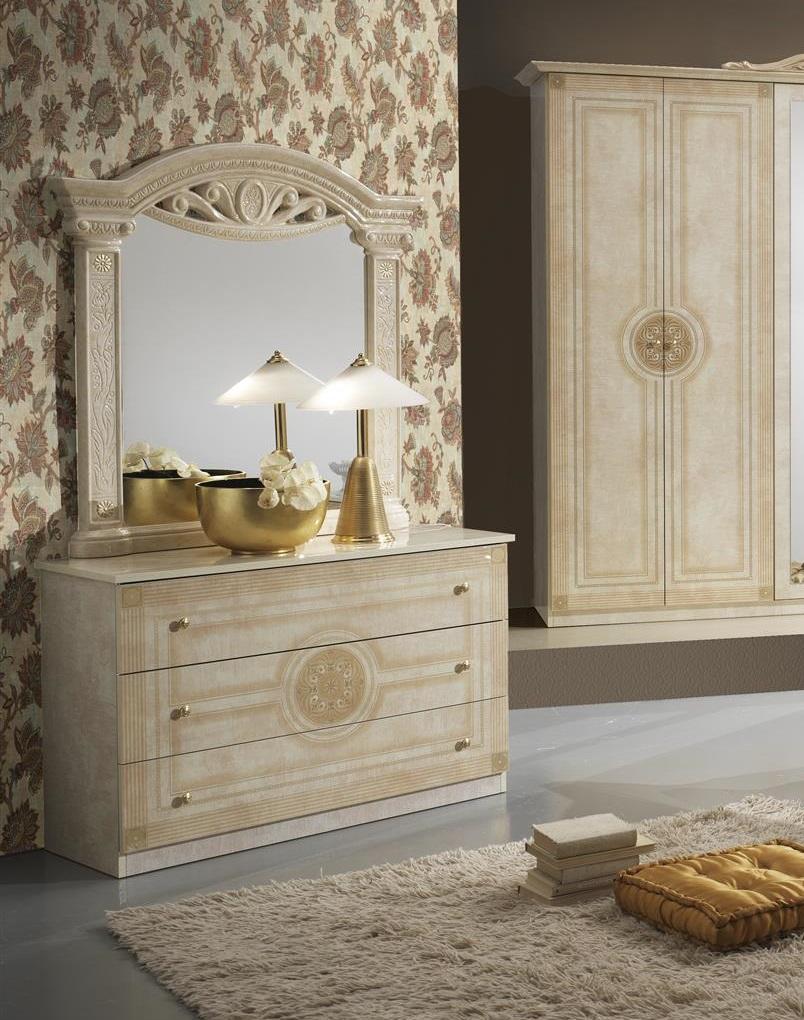 ... Schlafzimmer Rana Creme Beige 6 Türig Schrank 180 Bett Luxus Design