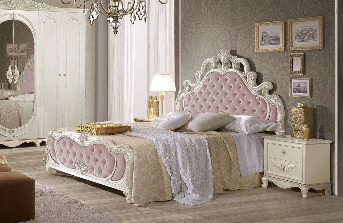 Schlafzimmer Set Atene In Creme Rosa Im Königlichen Stil ...