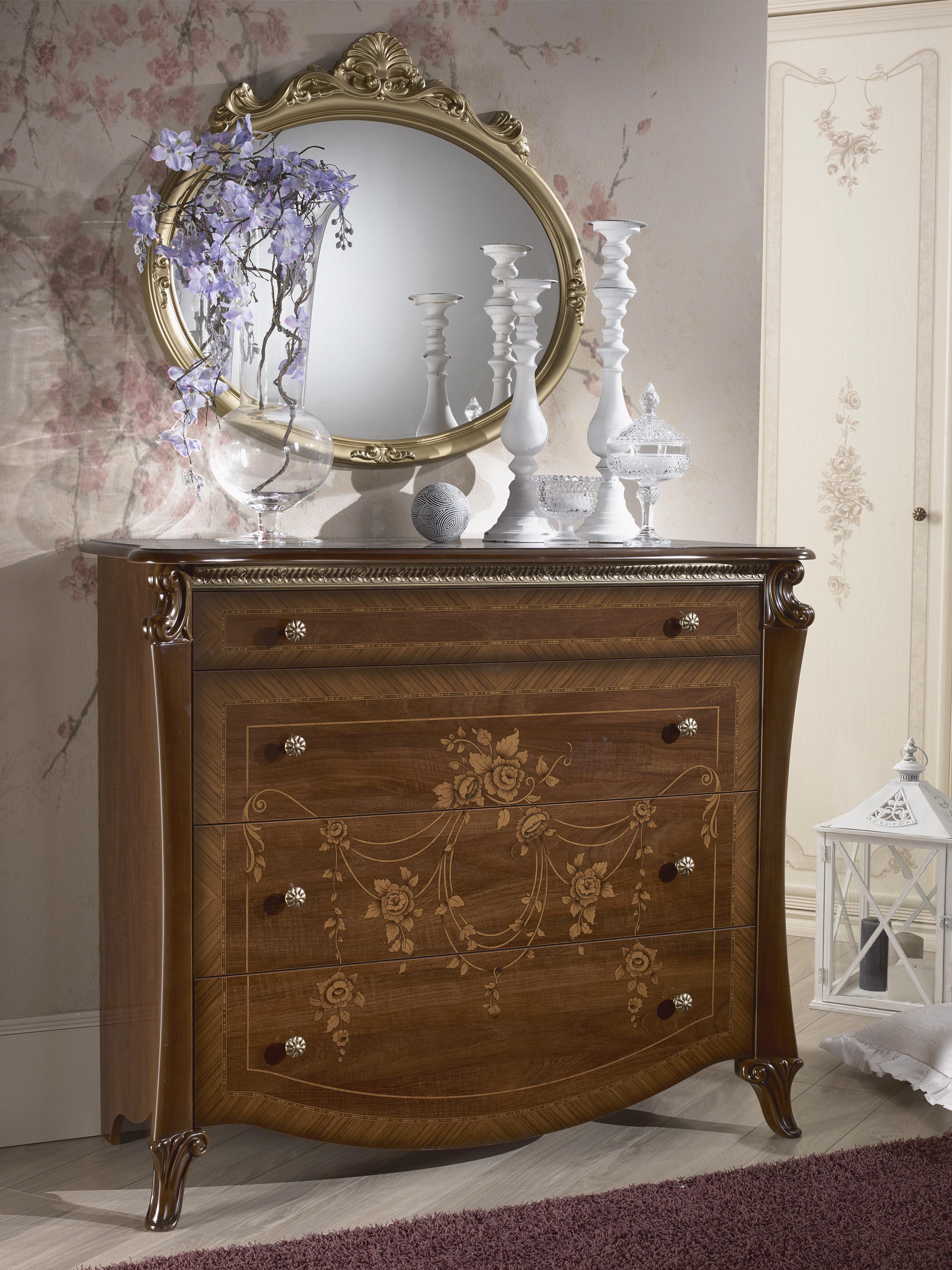 Schlafzimmer Set pose in Barock Design 180x200 cm mit