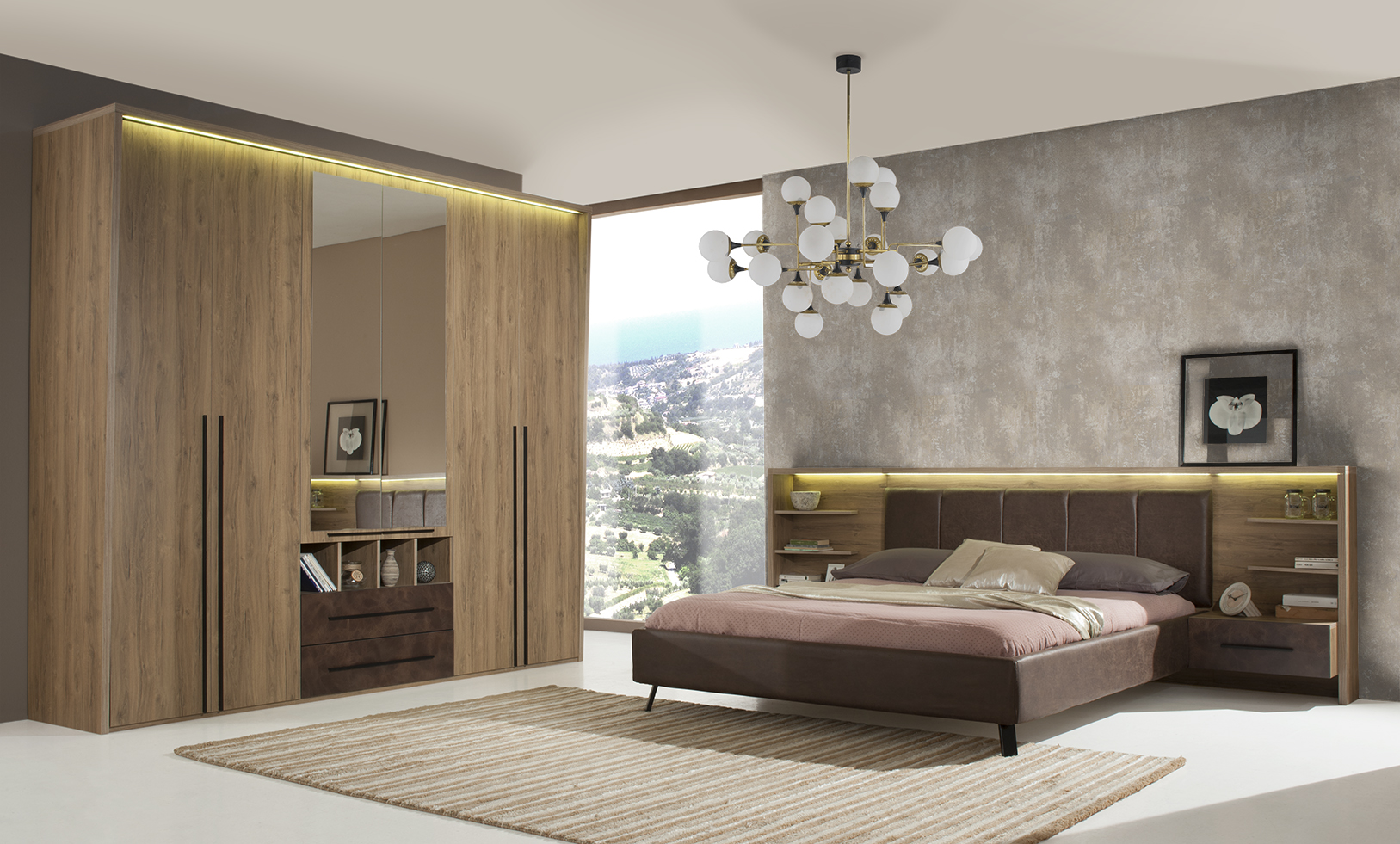 modernes schlafzimmer elegantes schlafzimmer. Black Bedroom Furniture Sets. Home Design Ideas