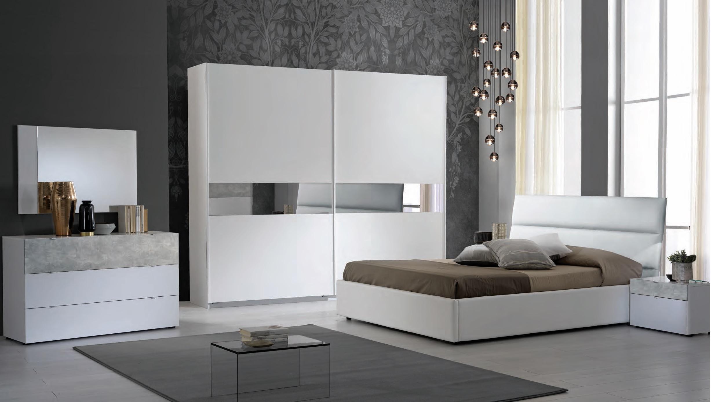 Schlafzimmer Set Miyuki In Weiss Grau 160x200 Cm Mit Lattenrost 26 Leisten Miy S B160 Ks2 103 3