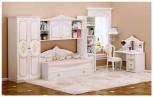 Kinderzimmer Rozza in beige Hochglanz Bett 140x200 cm