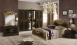 Schlafzimmer Giulia in schwarz gold Klassik Barock