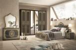 Schlafzimmer Alice in creme beige Barock Polsterung 180x200cm
