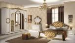 Kleiderschrank 6trg Barocco in schwarz gold Klassik