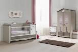 Kinderzimmer Houses 4 tlg braun weiss Boutique Schrank 2 trg Dac