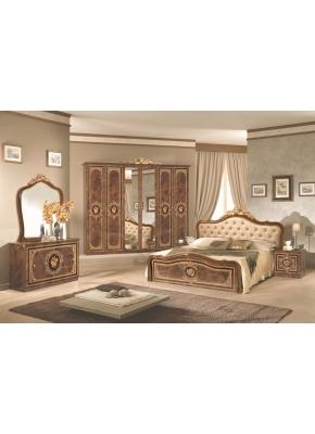 Schlafzimmer Alice in creme beige Barock Polsterung 180x200cm 4t