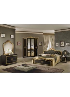 Schlafzimmer Lucy in beige Creme klassisch braun Designer 4tlg