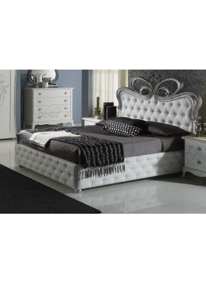 Schlafzimmer Perle in weiss creme Luxus 4tlg